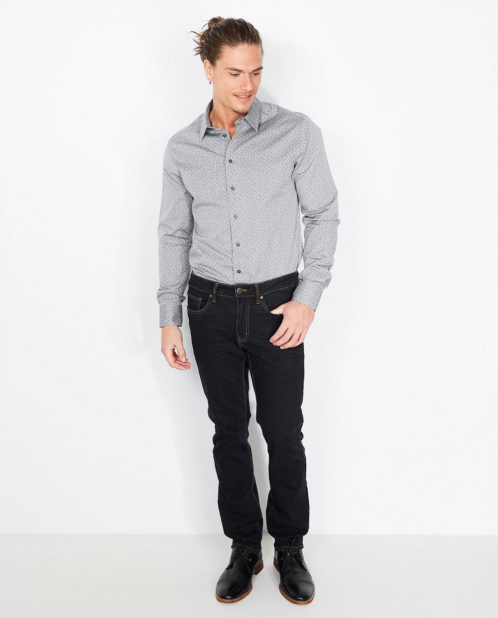 Hemd met bladerprint - slim fit - Iveo
